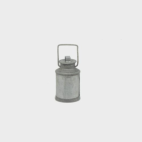 Krippendekoration Milchkanne aus Metall