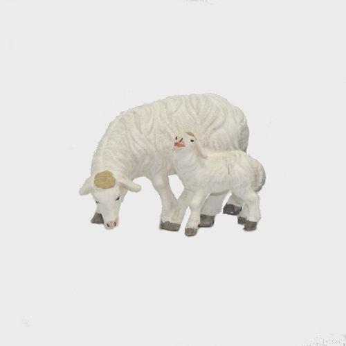 Zirbel 274 Schaf äsend mit Lamm