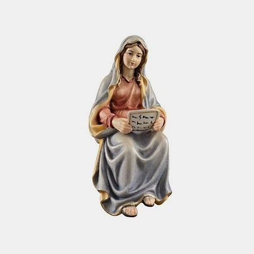 Handbemalte Kostner 067 Krippenfigur Maria mit Schrift